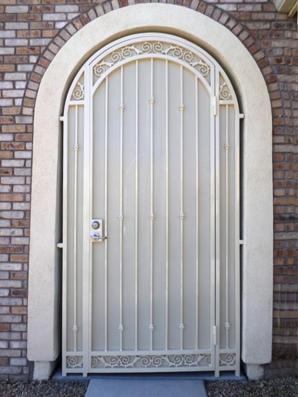 Traditional Santiago Entryway Door - Item EW0383 Wrought Iron Design In Las Vegas