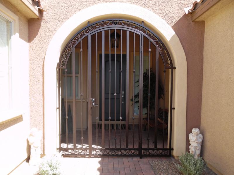 Traditional Santiago Entryway Door - Item EW0446 Wrought Iron Design In Las Vegas