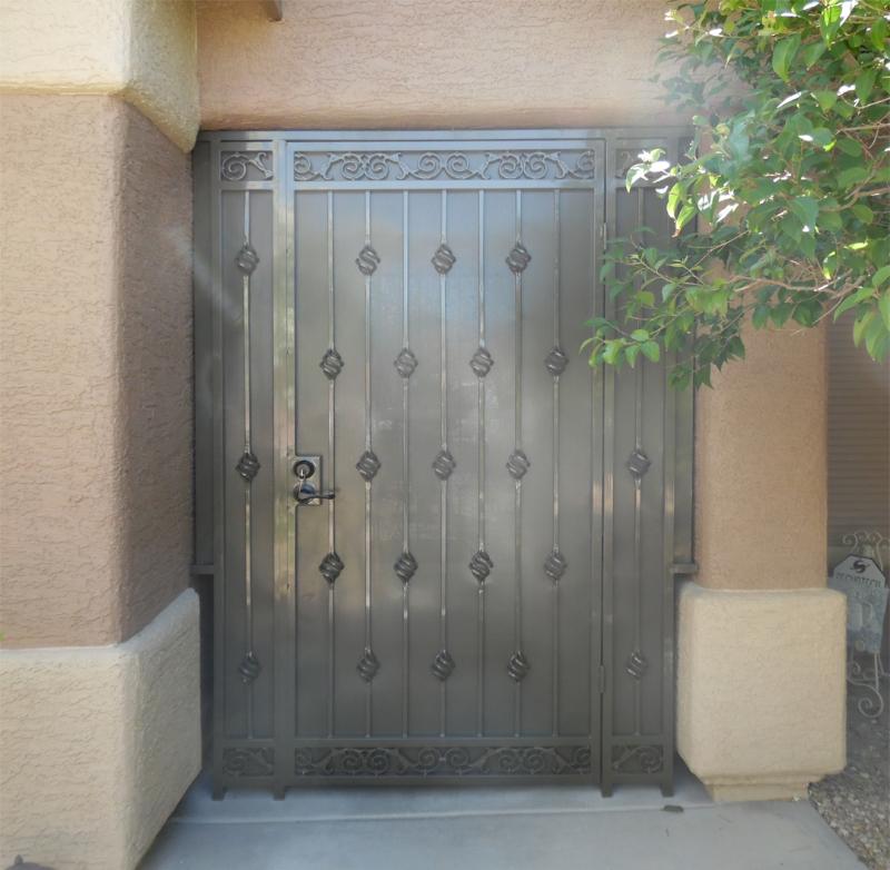 Traditional Santiago Entryway Door - Item EW314A Wrought Iron Design In Las Vegas