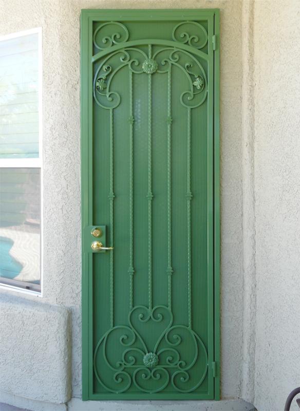 Traditional Security Door - Item Cappella SD0206 Wrought Iron Design In Las Vegas