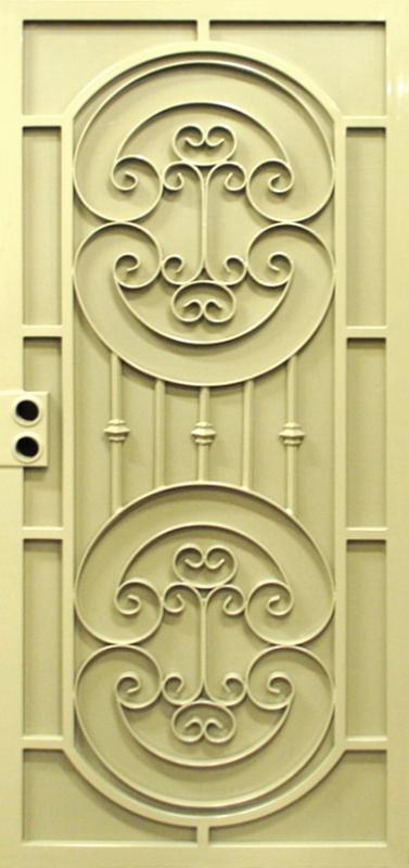Traditional Security Door - Item Cappella SD0237 Wrought Iron Design In Las Vegas