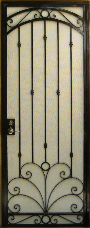 Traditional Security Door - Item Chattanooga SD0021 Wrought Iron Design In Las Vegas