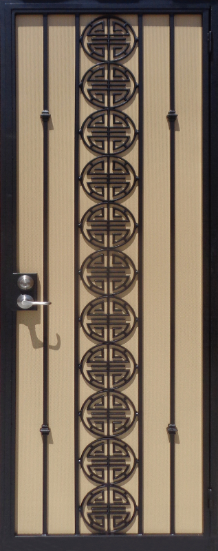 Traditional Security Door - Item Chi SD0067B Wrought Iron Design In Las Vegas