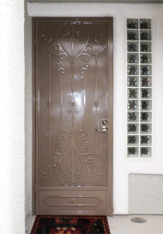 Traditional Security Door - Item Coco SD0184 Wrought Iron Design In Las Vegas
