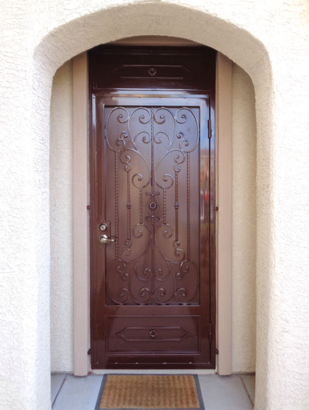 Traditional Security Door - Item Coco SD0195A Wrought Iron Design In Las Vegas