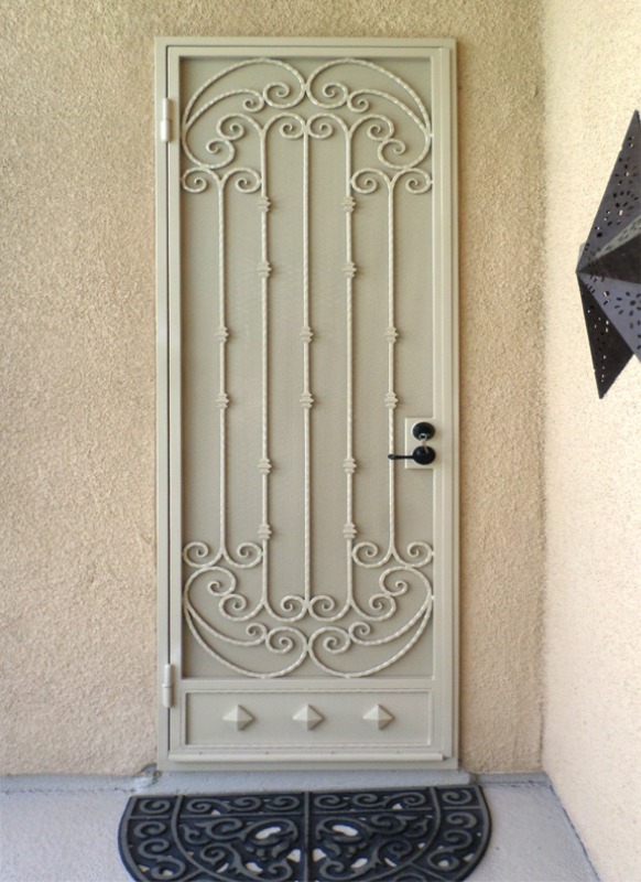 Traditional Security Door - Item Corsica SD0182 Wrought Iron Design In Las Vegas