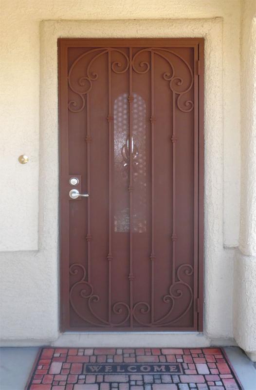 Traditional Security Door - Item Wrought Iron Design In Las Vegas
