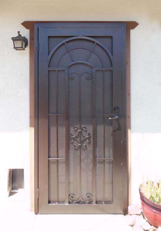 Traditional Security Door - Item Dixie SD0240FR Wrought Iron Design In Las Vegas