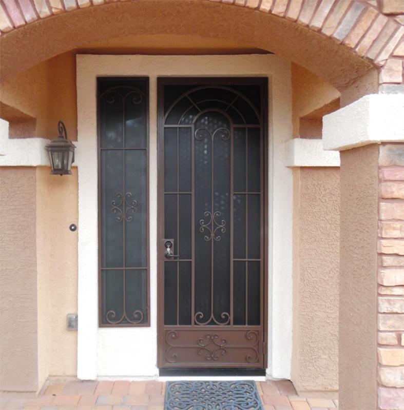 Traditional Security Door - Item Dixie SD0240_WG Wrought Iron Design In Las Vegas