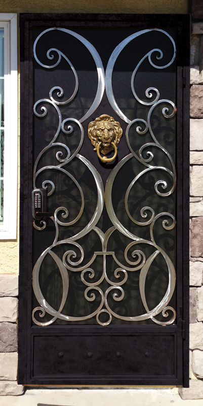 Traditional Security Door - Item Glasgow SD0132A Wrought Iron Design In Las Vegas