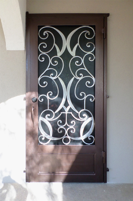 Traditional Security Door - Item Glasgow SD0132B Wrought Iron Design In Las Vegas