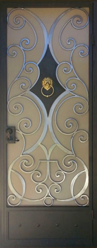 Traditional Security Door - Item Glasgow SD0132C Wrought Iron Design In Las Vegas