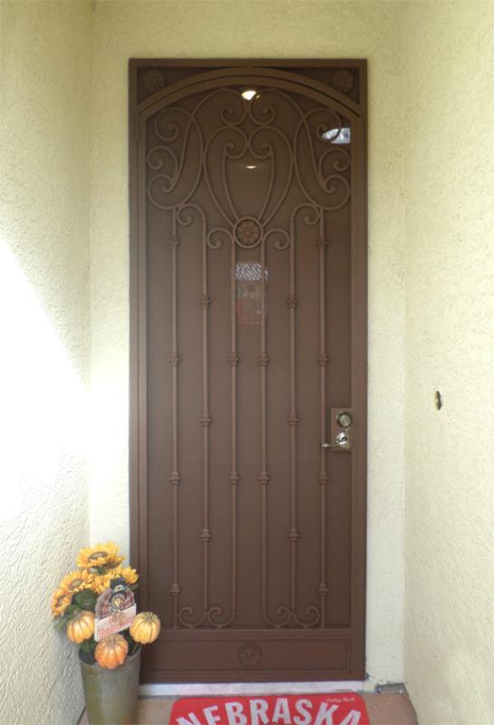Traditional Security Door - Item Marseille SD0232 Wrought Iron Design In Las Vegas