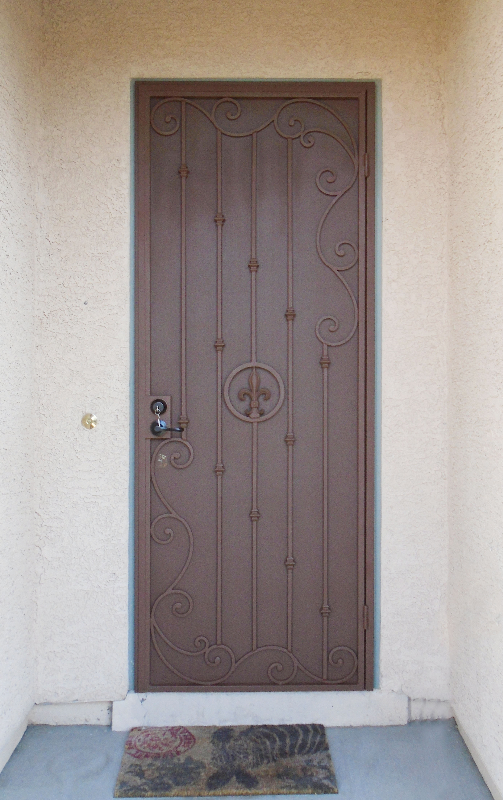 Traditional Security Door - Item Melodia SD0252A Wrought Iron Design In Las Vegas