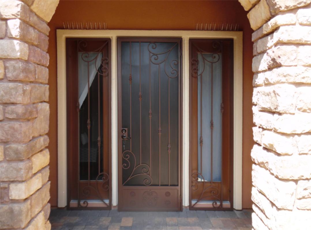 Traditional Security Door - Item Melodia SD0258 Wrought Iron Design In Las Vegas