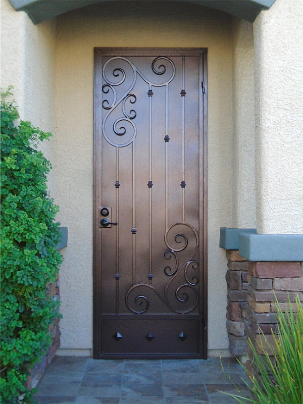Traditional Security Door - Item Melodia SD0276 Wrought Iron Design In Las Vegas