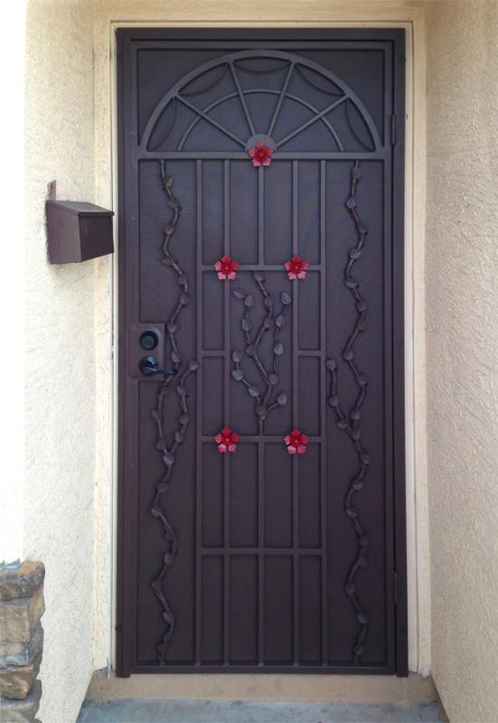 Traditional Security Door - Item Monticello SD0011 Wrought Iron Design In Las Vegas