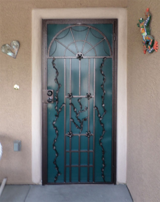 Traditional Security Door - Item Monticello SD0011B Wrought Iron Design In Las Vegas