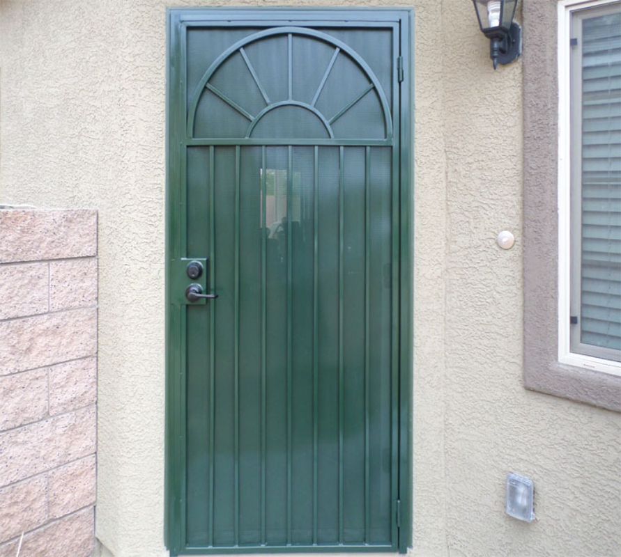Traditional Security Door - Item Monticello SD0058B Wrought Iron Design In Las Vegas