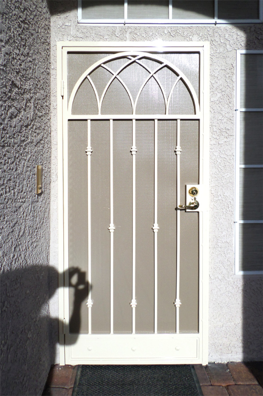 Traditional Security Door - Item Monticello SD0121 Wrought Iron Design In Las Vegas