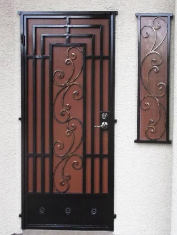 Traditional Security Door - Item Prato WG0902 Wrought Iron Design In Las Vegas