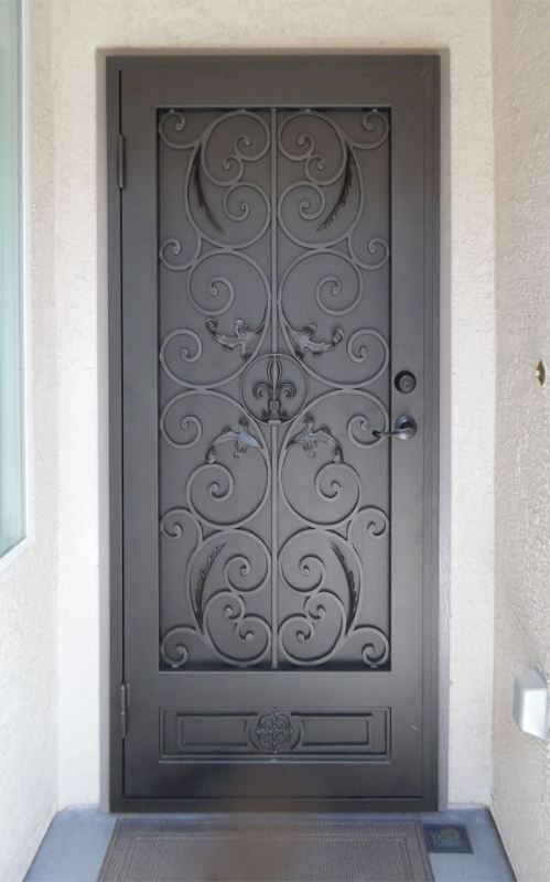 Traditional Security Door - Item Toulouse SD0255 Wrought Iron Design In Las Vegas
