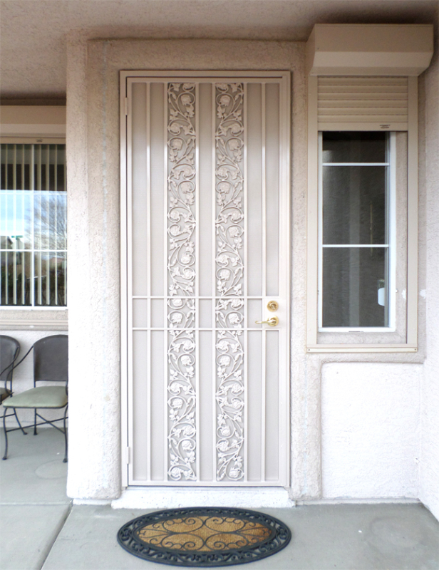 Traditional Security Door - Item Vivian SD0020 Wrought Iron Design In Las Vegas