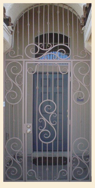 Traditional Serene Entryway Door - Item EW0017 Wrought Iron Design In Las Vegas