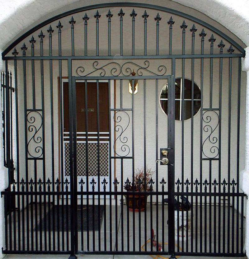 Traditional Serene Entryway Door - Item EW0031 Wrought Iron Design In Las Vegas
