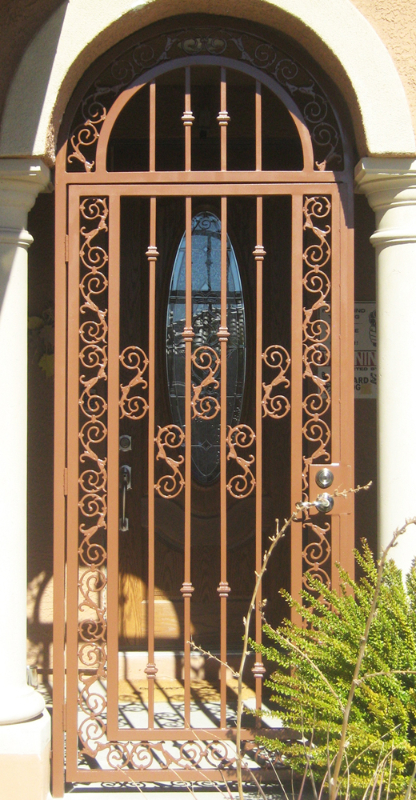 Traditional Serene Entryway Door - Item EW0120 Wrought Iron Design In Las Vegas