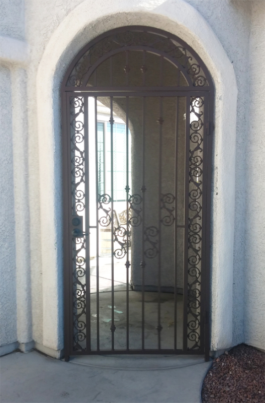 Traditional Serene Entryway Door - Item EW0120A Wrought Iron Design In Las Vegas