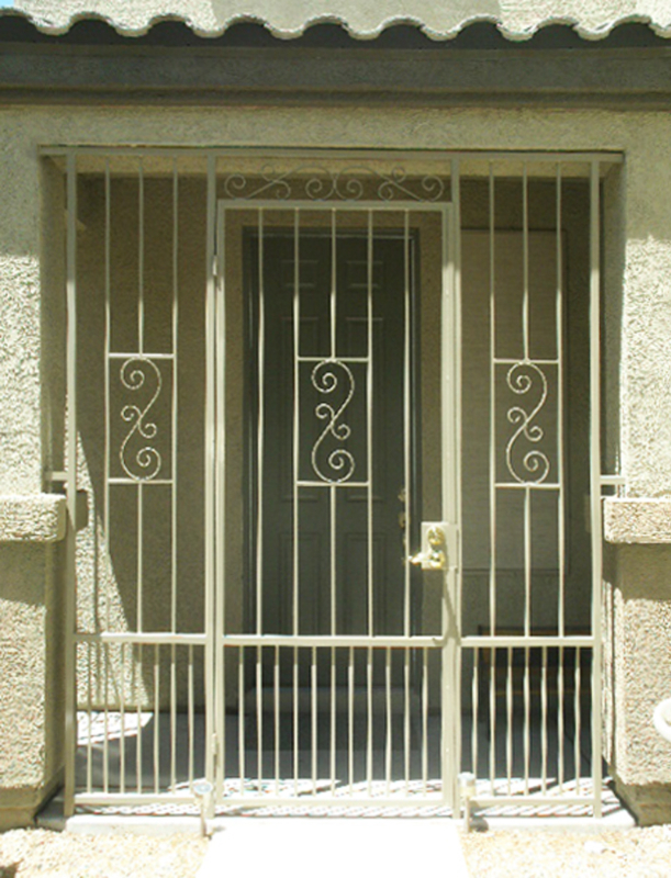 Traditional Serene Entryway Door - Item EW0172 Wrought Iron Design In Las Vegas