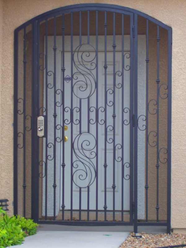 Traditional Serene Entryway Door - Item EW0425 Wrought Iron Design In Las Vegas