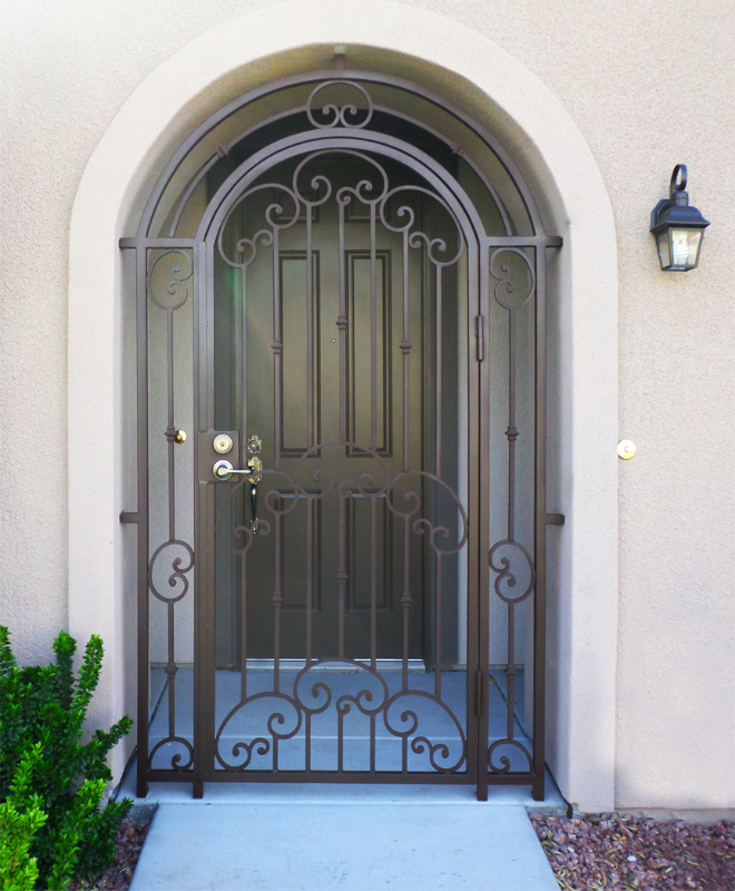 Traditional Valetta Entryway Door - Item EW0348 Wrought Iron Design In Las Vegas