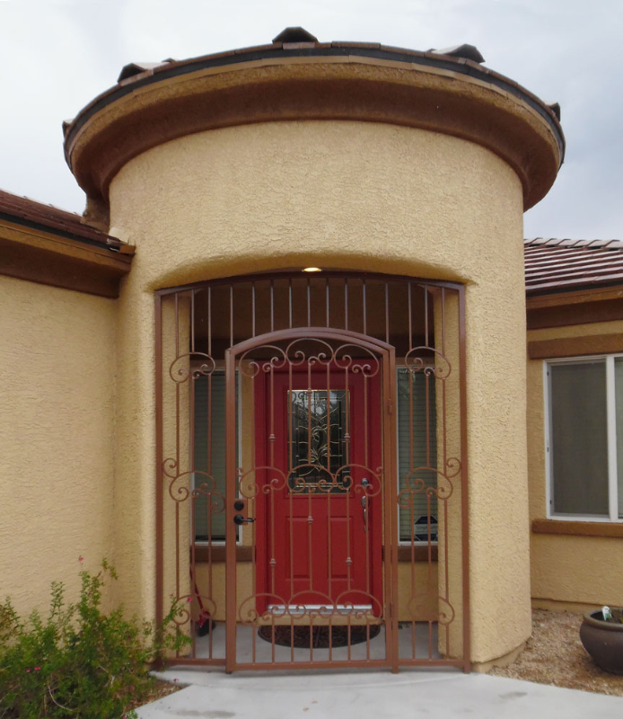 Traditional Valetta Entryway Door - Item EW0366A Wrought Iron Design In Las Vegas