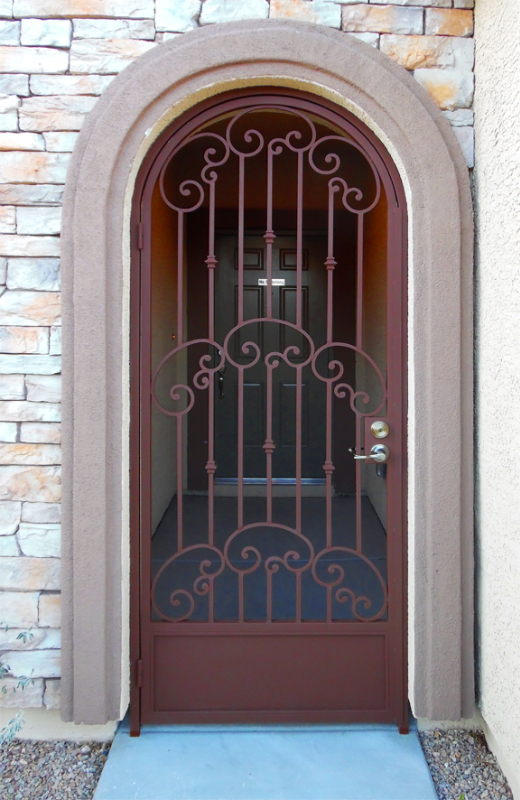 Traditional Valetta Entryway Door - Item EW0387A Wrought Iron Design In Las Vegas