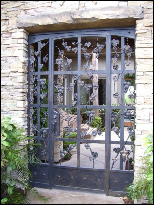 Traditional Vitigni Entryway Door - Item EW0001 Wrought Iron Design In Las Vegas
