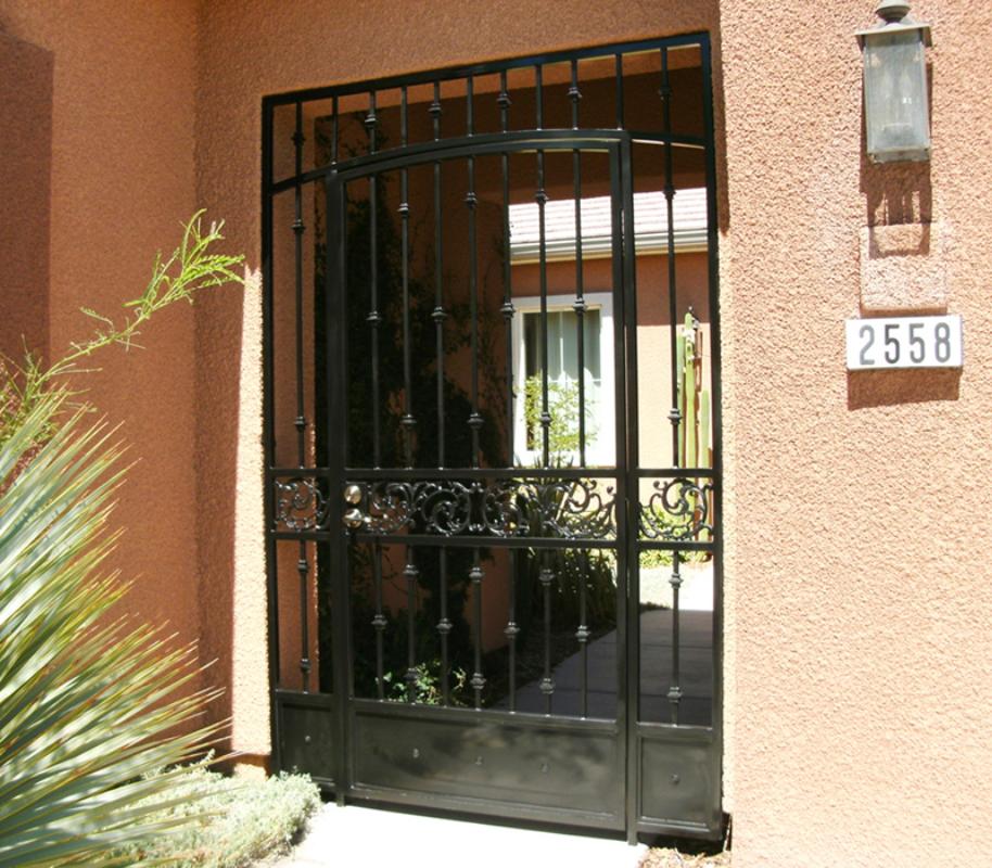 Traditional Vivian Entryway Door - Item EW0175 Wrought Iron Design In Las Vegas