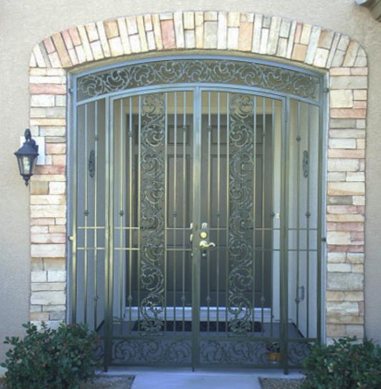 Traditional Vivian Entryway Door - Item EW0275 Wrought Iron Design In Las Vegas