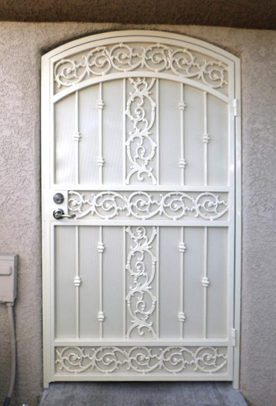Traditional Vivian Entryway Door - Item EW0375 Wrought Iron Design In Las Vegas
