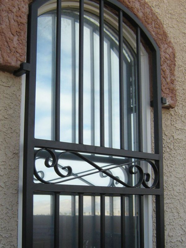 Traditional Window Guard WG0002 Wrought Iron Design In Las Vegas