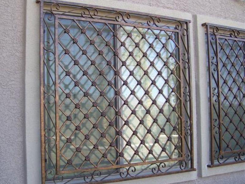 Traditional Window Guard WG0007 Wrought Iron Design In Las Vegas
