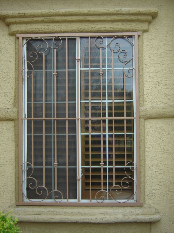 Traditional Window Guard WG0022 Wrought Iron Design In Las Vegas