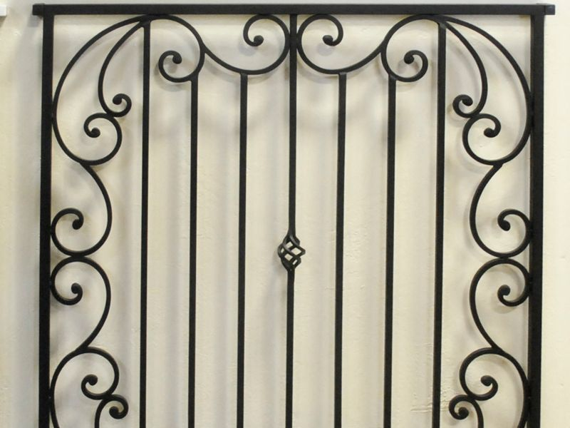 Traditional Window Guard WG0081 Wrought Iron Design In Las Vegas