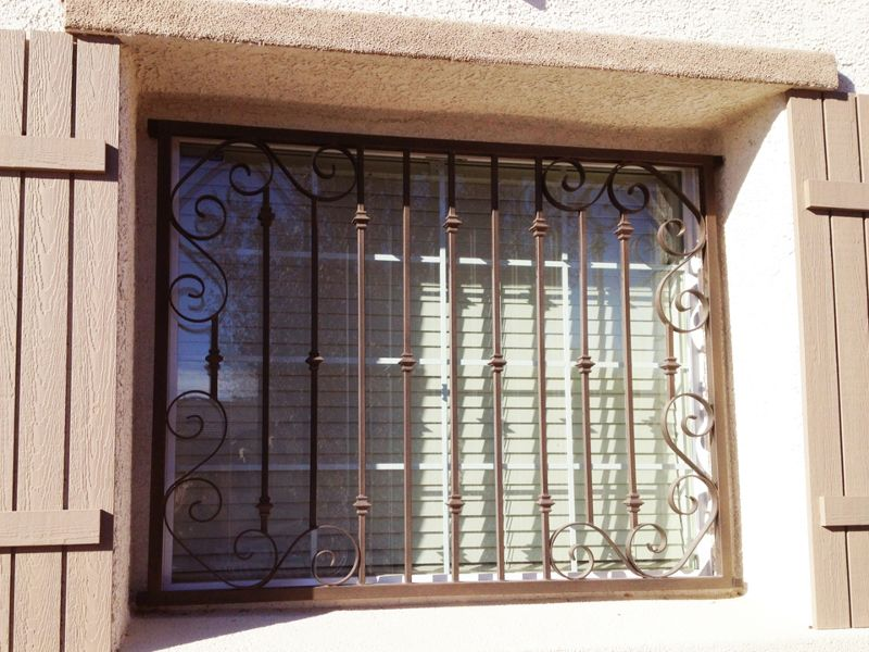 Traditional Window Guard WG0085 Wrought Iron Design In Las Vegas