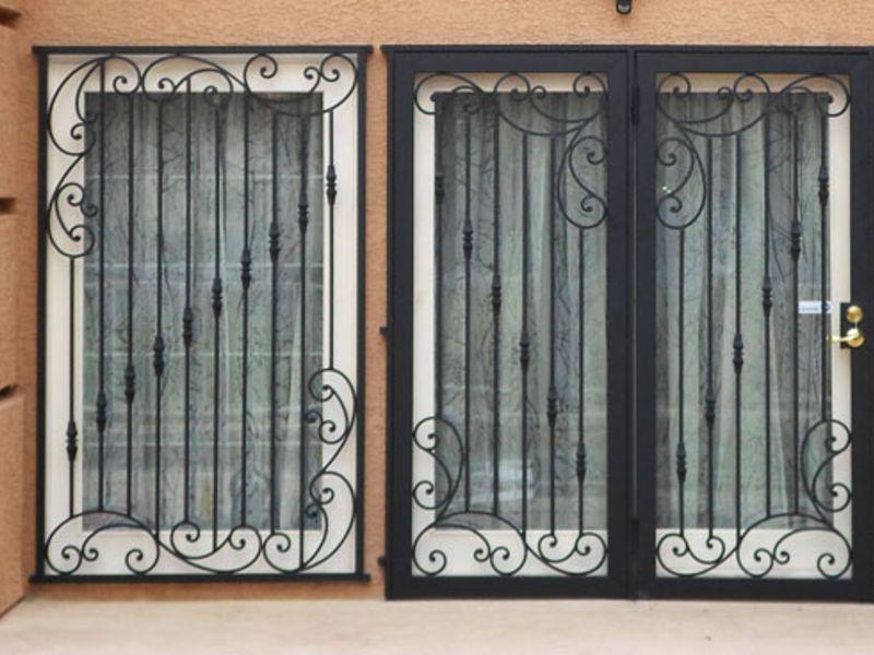 Traditional Window Guard WG0092 Wrought Iron Design In Las Vegas