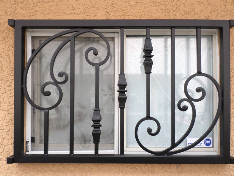 Traditional Window Guard WG0092b Wrought Iron Design In Las Vegas