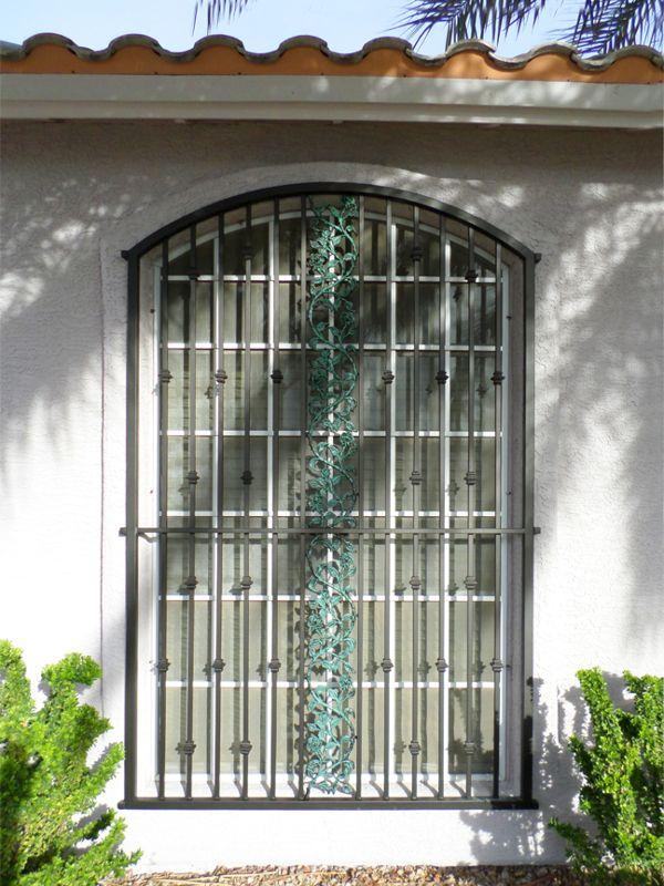 Traditional Window Guard WG0110 Wrought Iron Design In Las Vegas