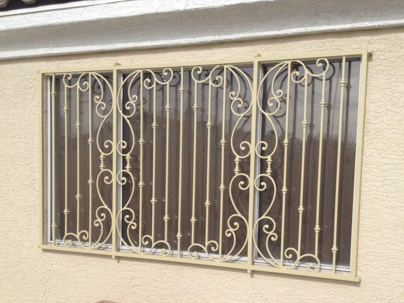 Traditional Window Guard WG0138 Wrought Iron Design In Las Vegas