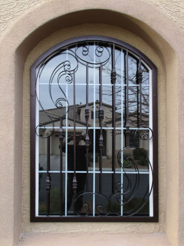 Traditional Window Guard WG0148 Wrought Iron Design In Las Vegas